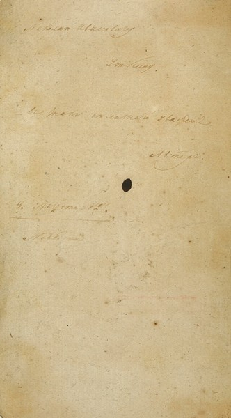 [Из собрания А.Н. Неустроева]. Мартос, А. [автограф] Письма о Восточной Сибири. М.: В Университетской тип., 1827.