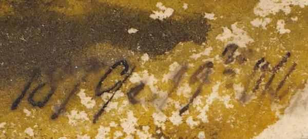 Орловский Владимир Донатович (1842–1914) «Пейзаж с перелесками». 1879. Бумага, акварель, 13,1 х 29,2 см.