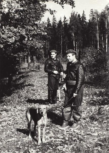 Фотография. Юрий Алексеевич Гагарин на охоте / фот. И. Крылов. 1960-е гг.