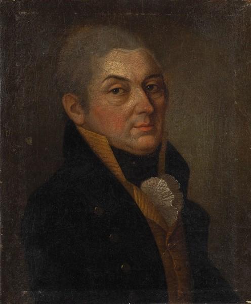 Неизвестный художник «Мужской портрет». Россия. 1810-е. Холст, масло, 30x25см.