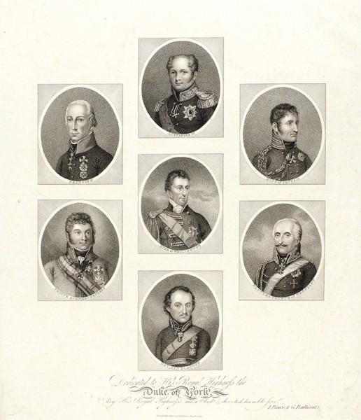 «Победители Наполеона». Лондон.1815. Бумага, пункир, 55x36,5см (лист), 38x32,5см (оттиск).