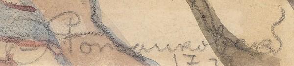 Рожанковский Фёдор Степанович (1891–1970) «Улочка старого города». 1917. Бумага, графитный карандаш, акварель, 29x23,5см.