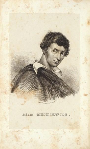 Мицкевич, А. Поэзия. [Poezye Adama Mickewicza. На польском яз.] [В 2 (?) т.] Т. 1. Париж; Женева, 1828.