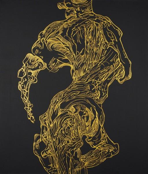 Светлана Гришина «Тазовая кость» из серии «Нетленные кости». 2017 . Холст, акрил. 70 х 60 см. Собственность автора.