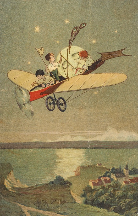 Открытка, старинные открытки с самолетами