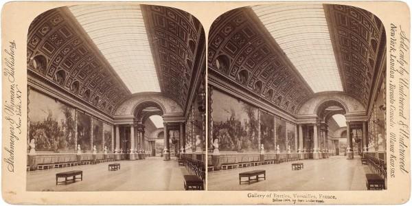 Подборка из 50 стереоскопических открыток с видами Франции. Париж; Версаль, [1867-1925].