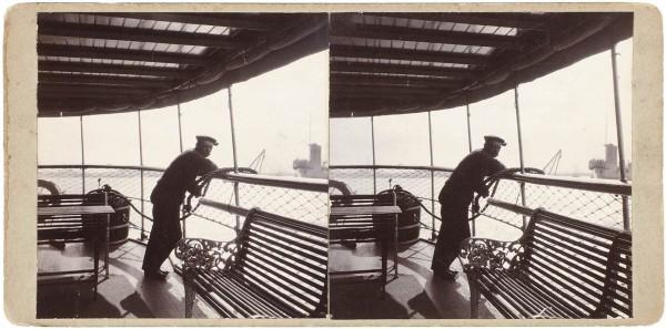 Подборка стереоскопических открыток «Корабли». Россия, Европа, нач. XX века.