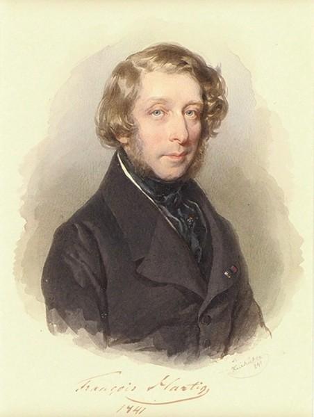 Крихубер Йозеф (Kriehuber Josef) (1800—1876) «Портрет графа Франца Гартига». 1841. Бумага, акварель, 15,5 х 11,5 см (в свету).
