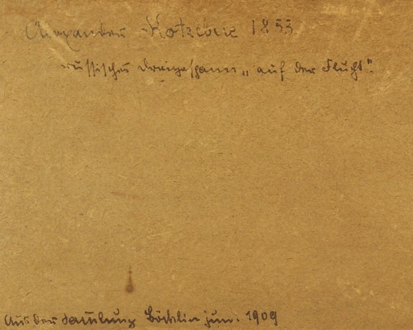 Коцебу Александр Евстафьевич (1815–1889) «Тройка». 1853. Папье-пеле на картоне, графитный карандаш, процарапывание, 14,1 х 20 см.