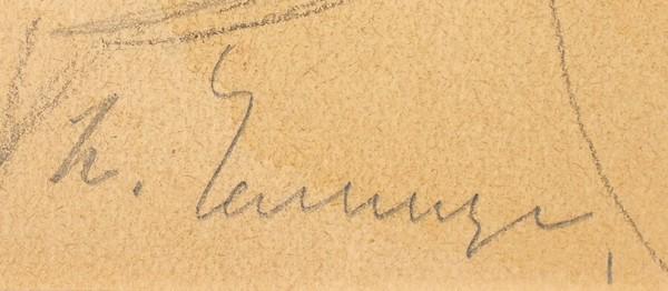 Челищев Павел Федорович (1898—1957) «Вакханка». Эскиз театрального костюма. 1920-1921. Бумага, графитный карандаш, акварель, белила, 33 х 24 см.