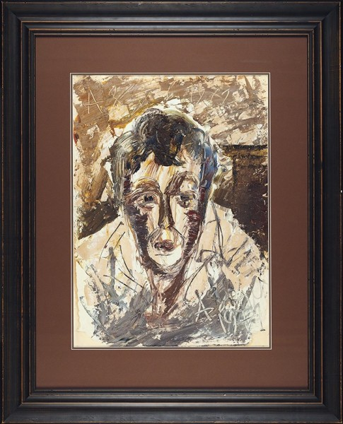 Зверев Анатолий Тимофеевич (1931 — 1986) «Автопортрет». 1971. Картон, масло, 60 х 43 см.
