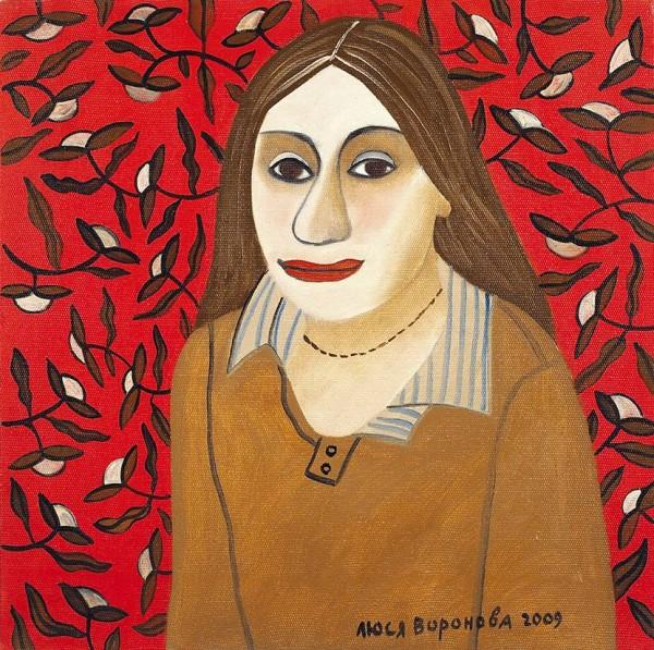 Воронова Люся (Людмила Владимировна) (род. 1953) «Аня. М.». 2009. Холст, масло, 50 х 50 см.