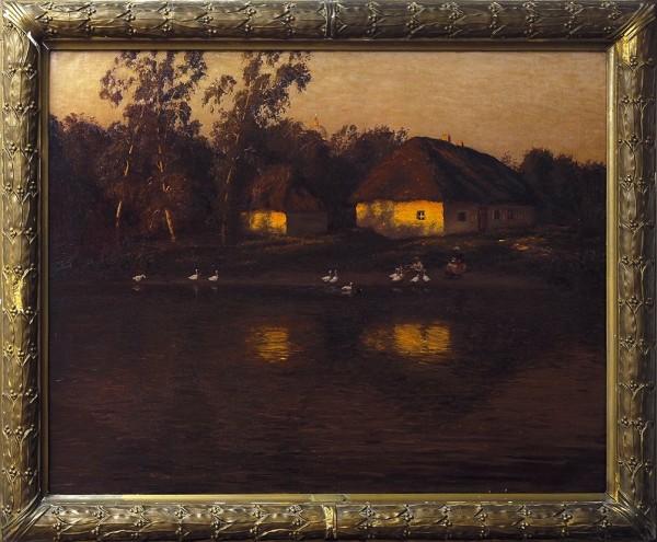 Дубовской Николай Никанорович (1859—1918) «Вечер». Авторский вариант. 1902. Холст, масло, 103,7 х 134 см.
