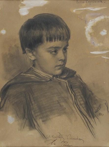 Репин Илья Ефимович (1844—1930) «Портрет Васи Тарновского». 1880. Бумага, графитный карандаш, 32,6 х 24,2 см.