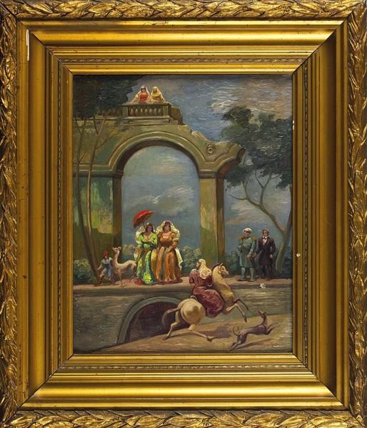 Гудиашвили Ладо (Владимир) Давидович (1896—1980) «Прогулка поэтов». Вторая четверть ХХ века. Холст, масло, 42 х 33,5 см.
