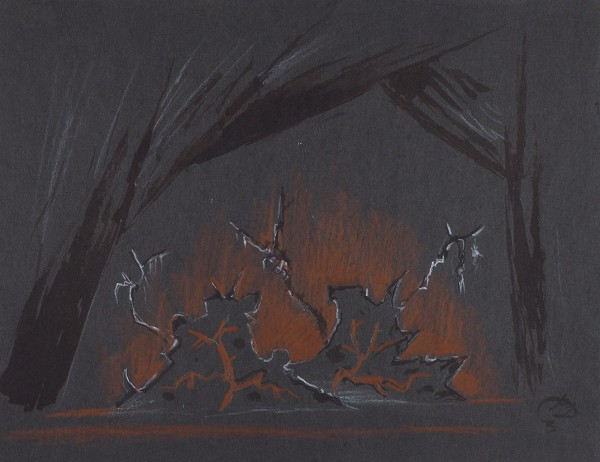 Архив эскизов и фотографий, посвященный работе М.В. Добужинского и «Монреальского балета Рут Сорель». Конец 1940-х.