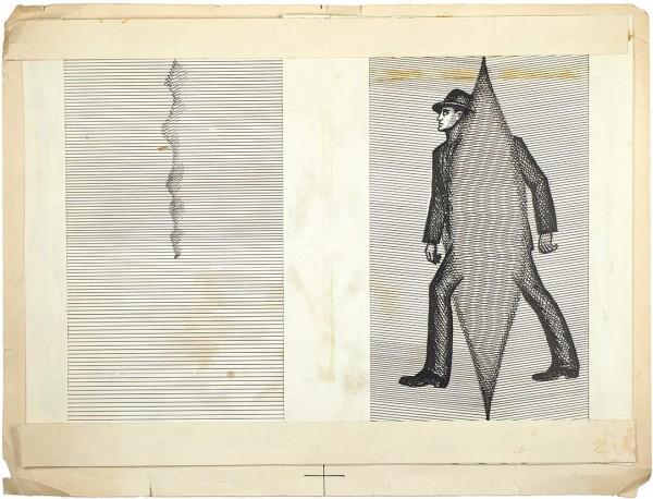 Соостер Юло (1924—1970) Эскиз суперобложки к книге К. Саймака «Все живое». 1968. Бумага, тушь, перо, 22,4 х 29 см.