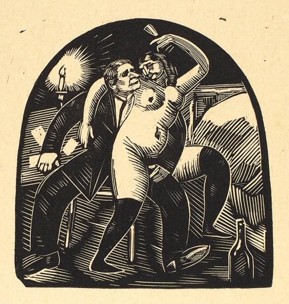 Масютин, В.Н. 14 ксилографий из серии «Вино, карты и женщины». [1920].